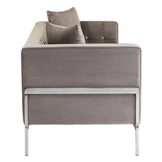 Rena Velvet 3 Seater Sofa In Grey_3