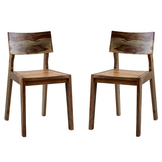 Reverso Two Tone Oak Wooden Dining Chairs In Pair_1