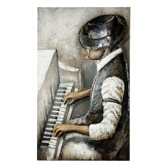 Rhythm And Blues Picture Metal Wall Art In Multicolor
