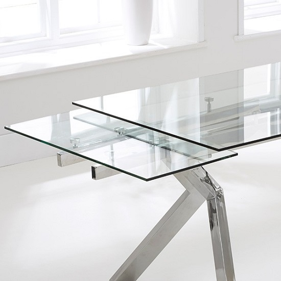 Rialto Extendable Glass Dining Table With Stainless Steel : rialtoextendableglassdiningtable1 from www.furnitureinfashion.net size 550 x 550 jpeg 53kB