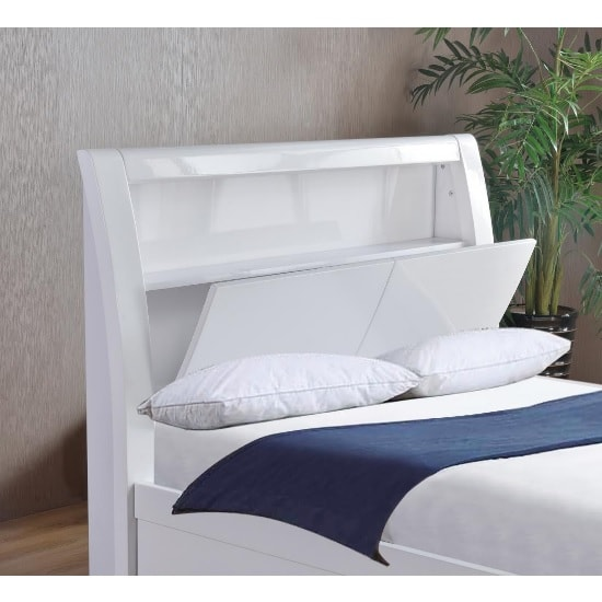 Riano Storage Double Bed In White High Gloss_3