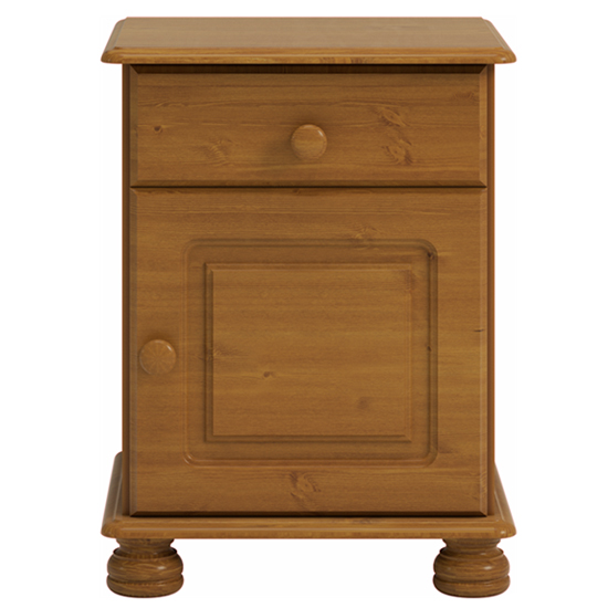 Richmond Wooden Bedside Cabinet In Pine With 1 Door 1 Drawer_2