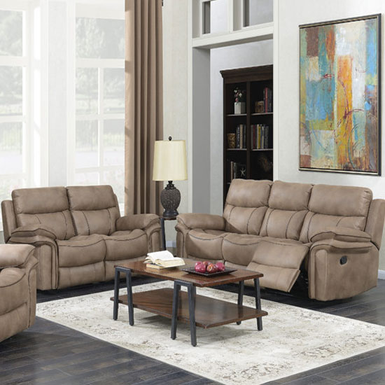 Richmond Fabric 3 And 2 Seater Sofa Suite In Sahara