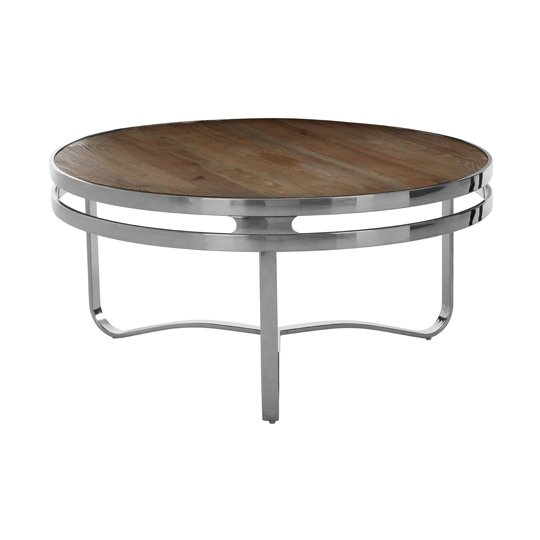 Mintaka Pine Wood Round Coffee Table In Natural