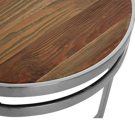 Mintaka Pine Wood Round Side Table In Natural    _3