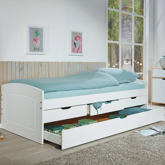 Rieka 1 Wooden Function bed Single Bed In White_2