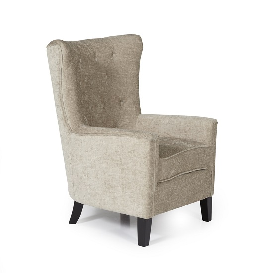 Riley Fabric Sofa Chair In Mink With Wooden Legs_2