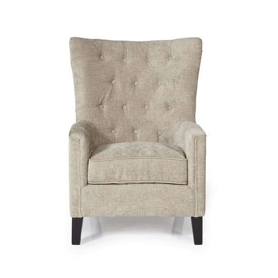 Riley Fabric Sofa Chair In Mink With Wooden Legs_4