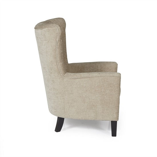 Riley Fabric Sofa Chair In Mink With Wooden Legs_5