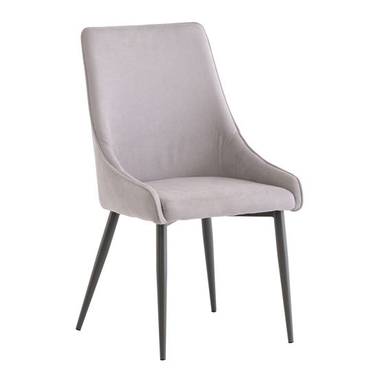Rimini Fabric Dining Chair In Grey