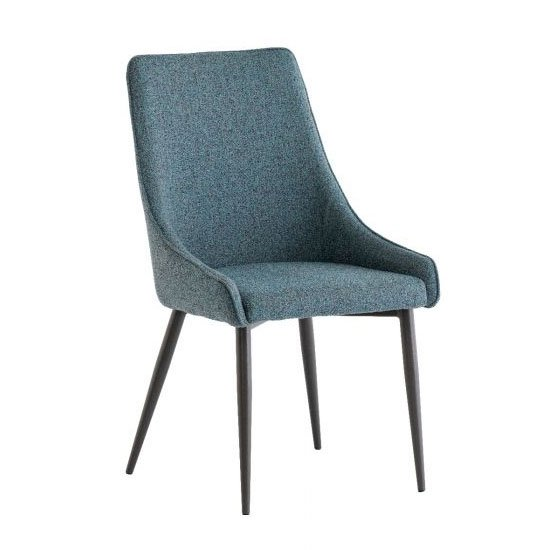 Rimini Fabric Dining Chair In Teal_1