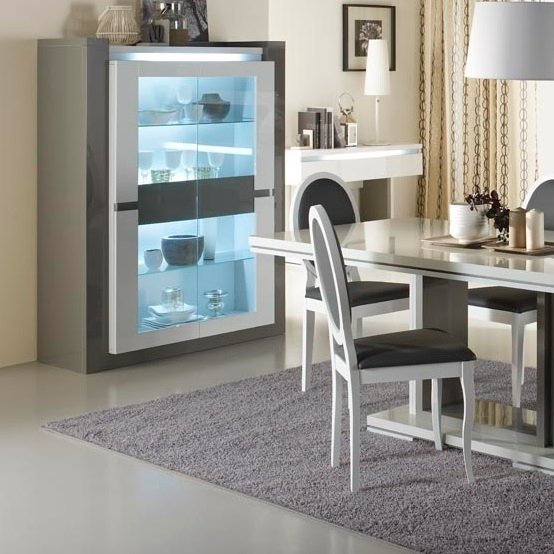 rimini 2 door display cabinet with light - Buying A House Process Explained