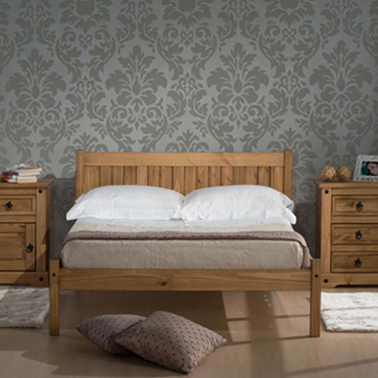 Rio Wooden Single Bed In Waxed Pine