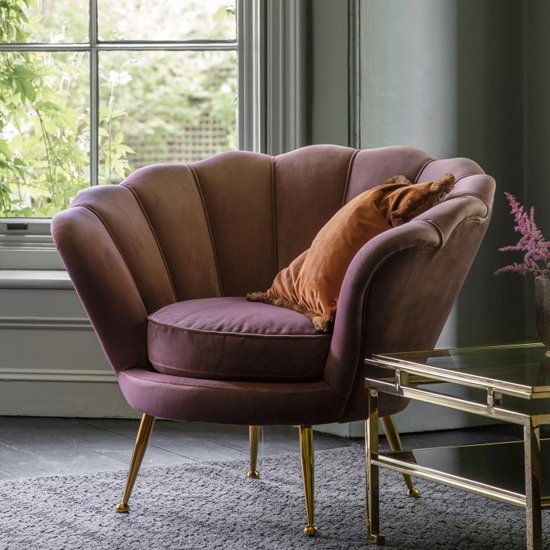 Rivello Lounge Armchair In Rose