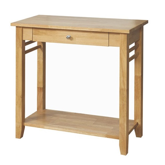 Rivero Wooden Console Tables In Light Oak With 1 Drawer