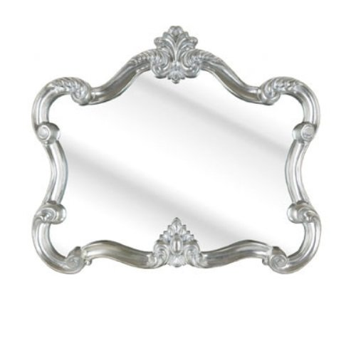 Roberro Over Mantle Wall Mirror In Silver