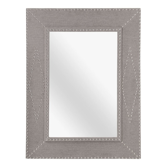 Robert Wall Mirror Rectangular In Stone Linen