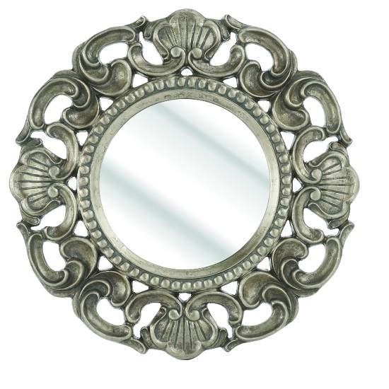 Roco Wall Mirror With Round Silver Frame