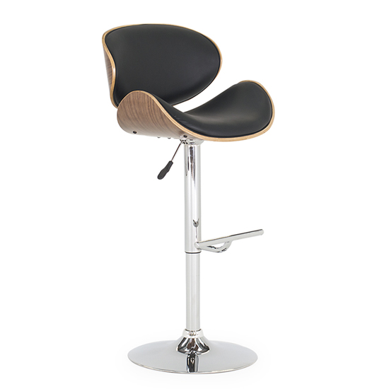 Rocco Faux Leather Gas Lift Bar Stool In Black_1