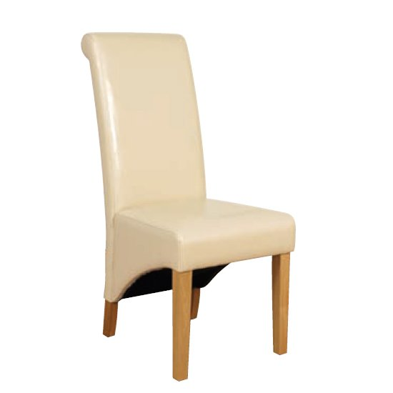 Rocco PU Leather Dining Dining Chair In Ivory_1