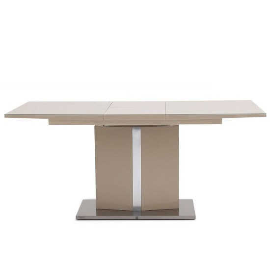 Rochelle Glass Extendable Dining Table With Cream High Gloss_4