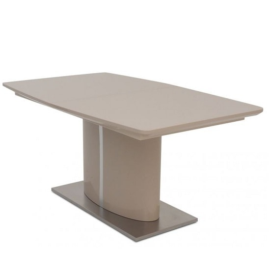 Rochelle Glass Extendable Dining Table With Cream High Gloss_6