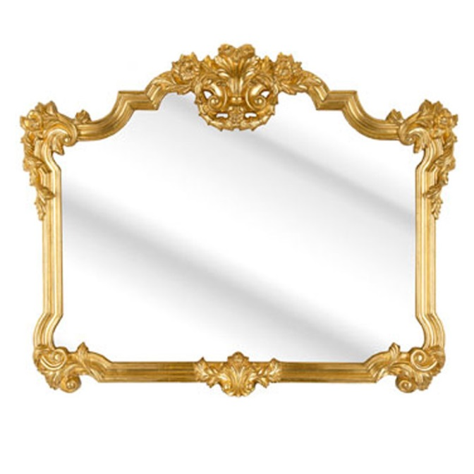 Roccosin Over Mantle Wall Mirror In A Gold Frame