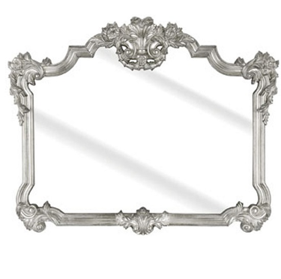 Roccosin Over Mantle Wall Mirror In A Silver Frame