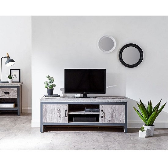 Rodarte 2 Door TV Unit In Grey