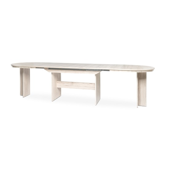Roman Extendable Wooden Dining Table Oval In Sorrento Oak_3