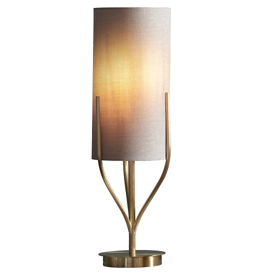 Romana Cylindrical Shade Table Lamp In Gold Finish_2