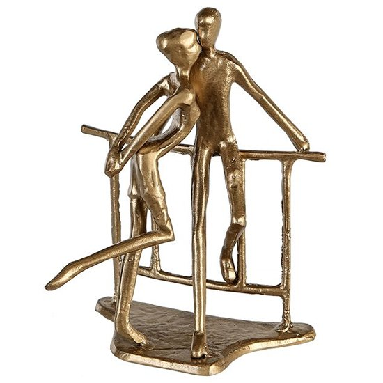 View Romance iron design sculpture in gold