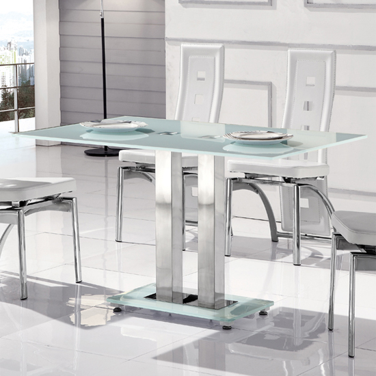 Romano II Small Frosted Dining Table Only