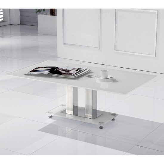 Read more about Romano white glass coffee table