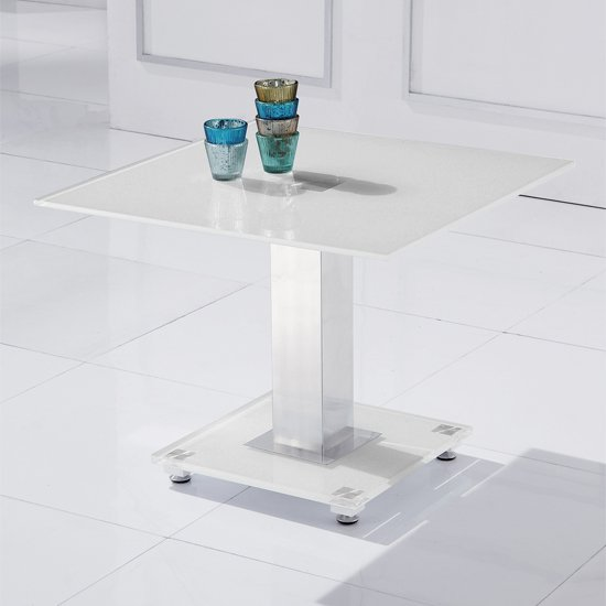 Read more about Romano lamp table in white glass