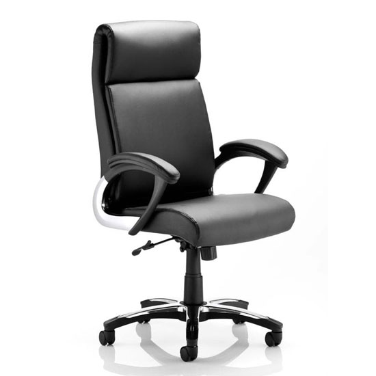 Romeo Leather Executive Folding Office Chair In Black