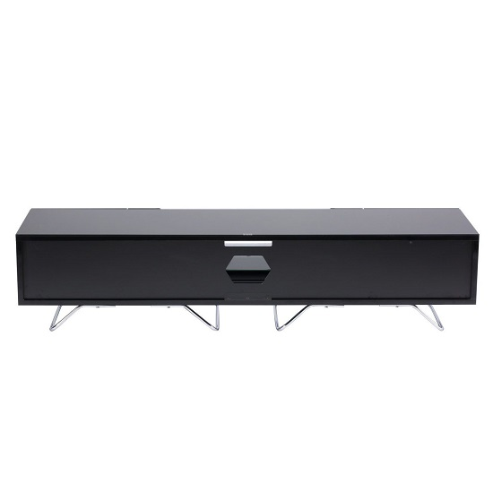 Romi Large LCD TV Stand In Black With Chrome Base_2