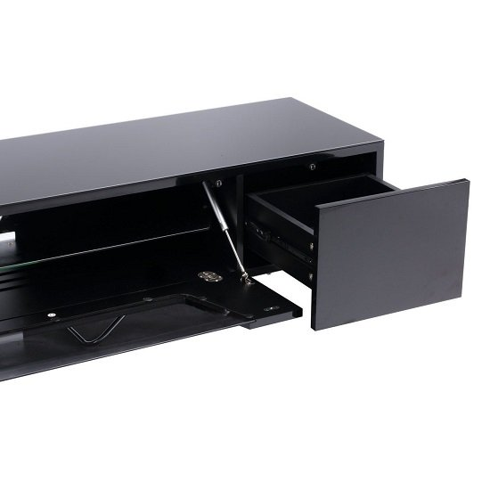 Romi Large LCD TV Stand In Black With Chrome Base_3