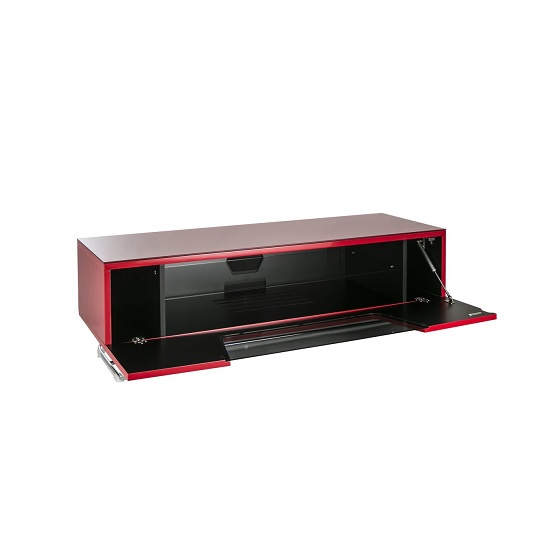 Romi Medium LCD TV Stand In Red With Chrome Base_3
