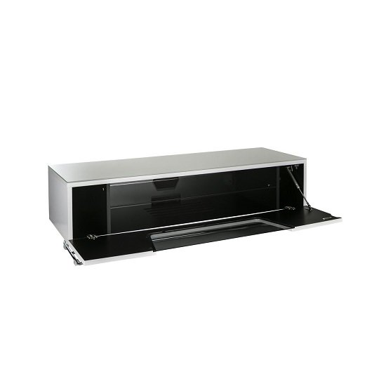 Romi Medium LCD TV Stand In White With Chrome Base_2