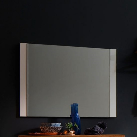 Romina Modern Wall Mirror Rectangular In Matt White