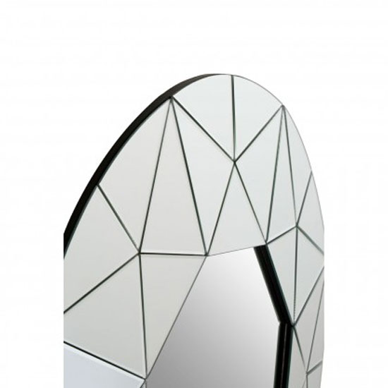 Rona Round Wall Bedroom Mirror In Silver Mirrored Frame_2