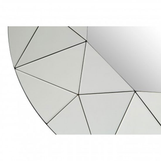 Rona Round Wall Bedroom Mirror In Silver Mirrored Frame_3