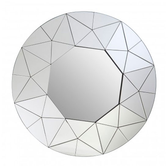 Rona Round Wall Bedroom Mirror In Silver Mirrored Frame_1