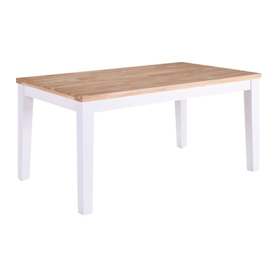 Rona Wooden Oak Top Dining Table In Grey_1
