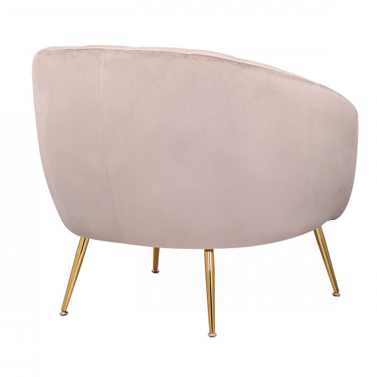 Ronaldo Velvet Armchair In Taupe With Gold Steel Legs_4