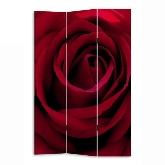 Red Rose Room Divider In Canvas