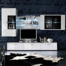 Corona Room Set In White High Gloss V5