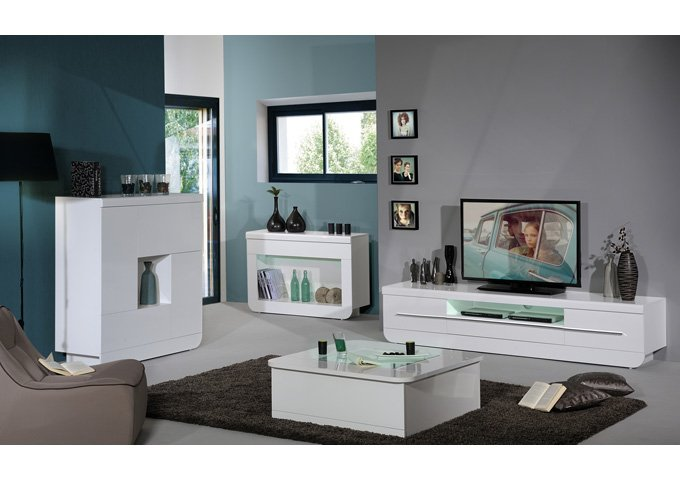 Fiesta Sideboard Cabinet In High Gloss White