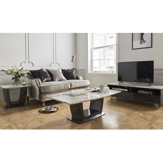 Roscoe Marble Coffee Table In White With High Gloss Metal Base_2